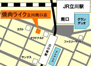 焼肉ライク地図